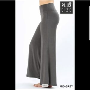 Pants - 💕 10/14 Host Pick💕 Plus Size Grey Palazzo Pants